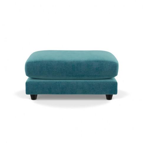 Heal's Snooze Footstool Smart Luxe Velvet Airforce B...
