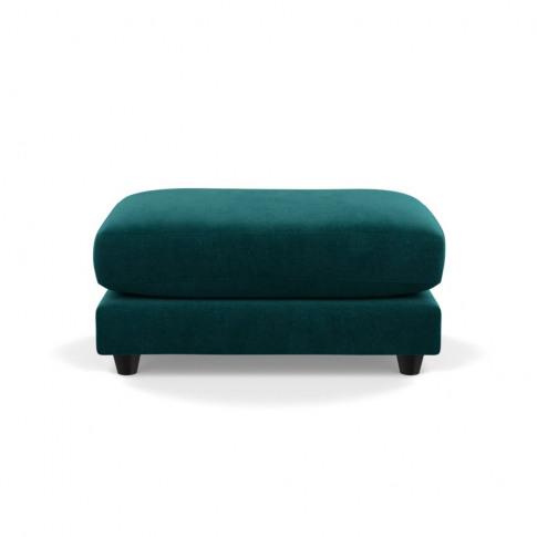Heal's Snooze Footstool Smart Luxe Velvet Ocean Blac...