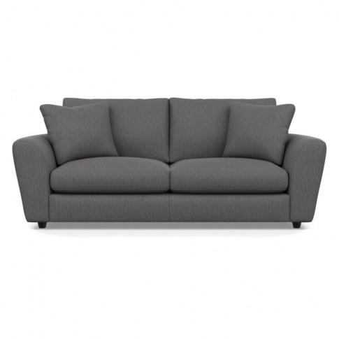 Heal's Snooze 4 Seater Sofa Smart Linen Mix Grey Bla...