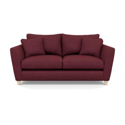 Heal's Torino 3 Seater Sofa Smart Linen Maroon Natur...