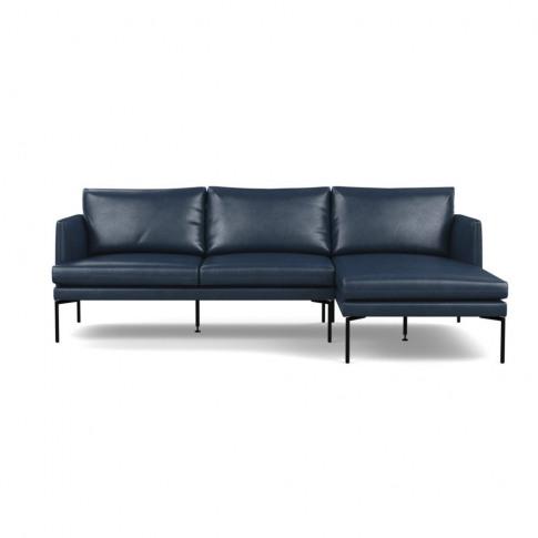 Heal's Matera Corner Chaise Sofa Rhf Leather Stonewa...
