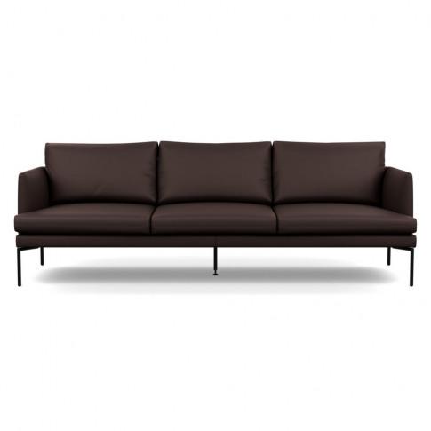 Heal's Matera 4 Seater Sofa Leather Grain Chocolate ...