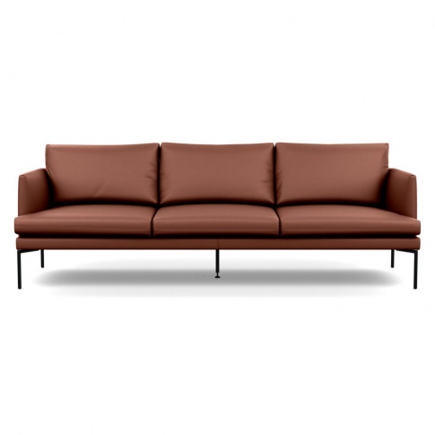 Heal's Matera 4 Seater Sofa Leather Grain Dark Brown...