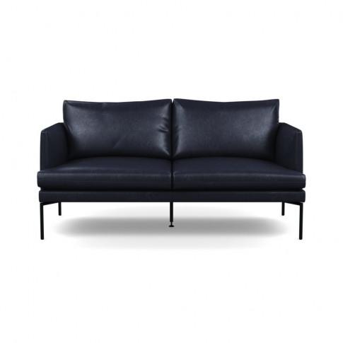 Heal's Matera 2 Seater Sofa Leather Stonewash Black 263