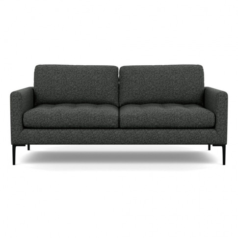Heal's Eton 3 Seater Sofa Brecon Charcoal Black Feet