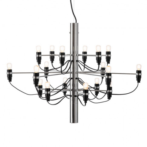 Flos 2097/18 Chandelier Frosted Bulbs Chrome
