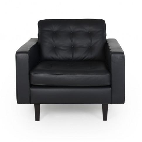 Heal's Hepburn Armchair Leather Hide Graphite 7181 N...