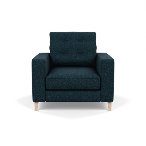 Heal's Mistral Armchair Brecon Ink Natural Feet