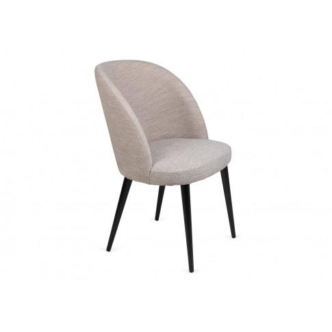 Heal's Austen Dining Chair Boucle Cream Black Leg