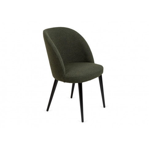 Heal's Austen Dining Chair Boucle Green Black Leg