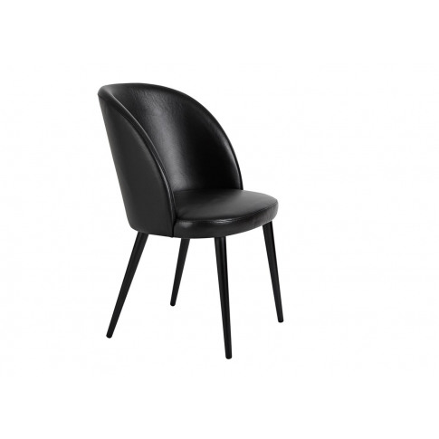 Heal's Austen Dining Chair Black Leather Black Leg