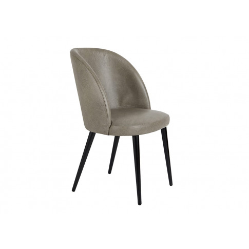 Heal's Austen Dining Chair Grey Leather Black Leg
