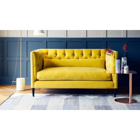 Heal's Balmoral 2 Seater Sofa Cotton Grain Black Feet