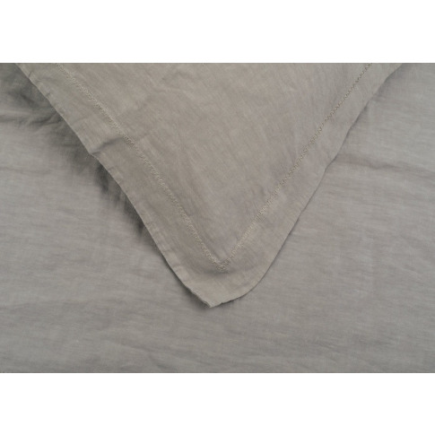 Heal's Washed Linen Natural Fitted Sheet Double