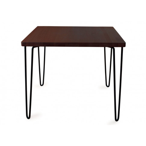 Heal's Brunel Dining Table Square Dark Wood