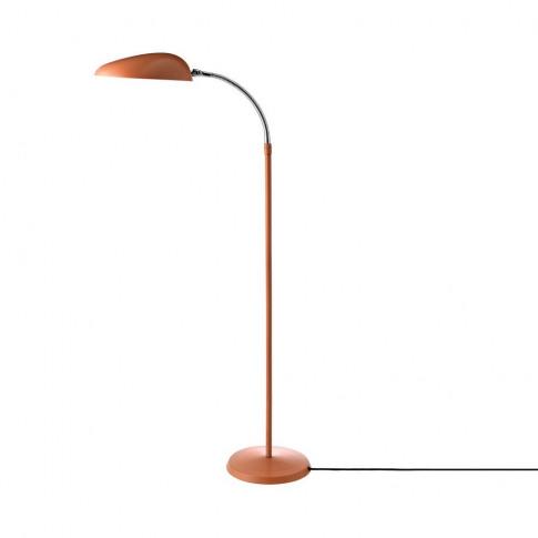 Gubi Cobra Floor Lamp In Vintage Red