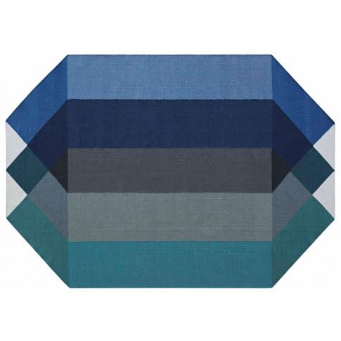 Gandia Blasco Diamond Kilim Rug Blue & Green 300 X 3...