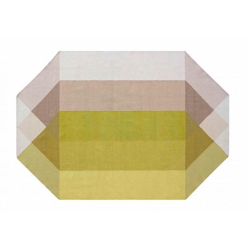 Gandia Blasco Diamond Kilim Rug Pink & Yellow 170 X ...