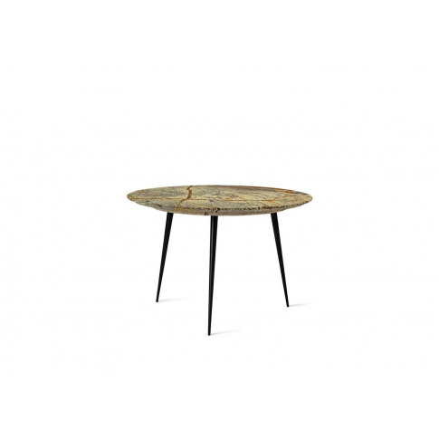 Mater Disc Side Table Marble Jungle Green