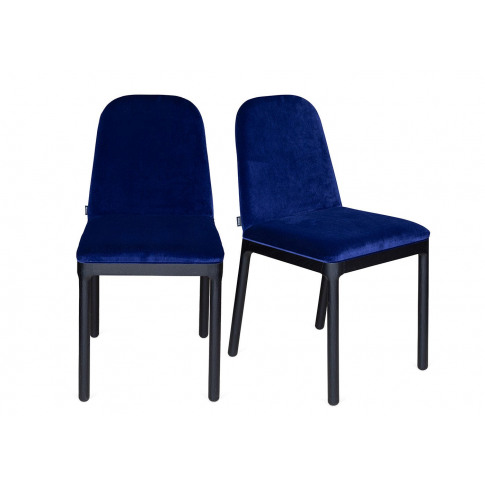 Heal's Ellie Pair Of Dining Chairs Navy Velvet Black...