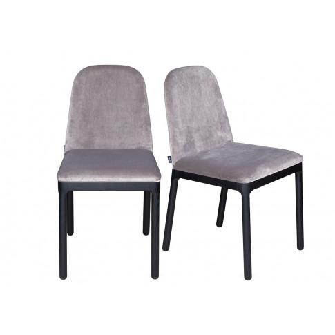 Heal's Ellie Dining Chair Taupe Velvet Black Ash Leg