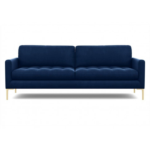 Heal's Eton 4 Seater Sofa Velvet Teal Black Feet