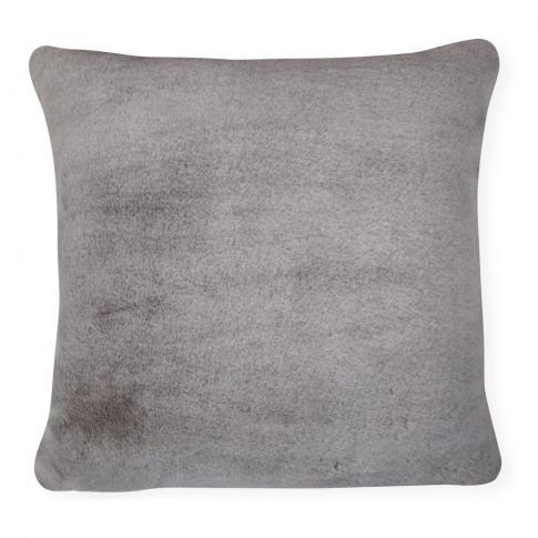 Heal's Faux Fur Cushion Alaska Grey 50 X 50cm
