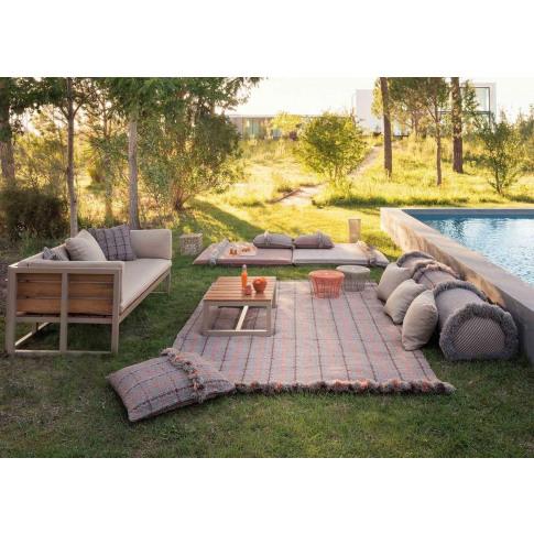 Gandia Blasco Garden Layers Rug Tartan Terracotta