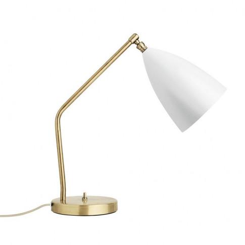 Gubi Gräshoppa Table Lamp Matt White
