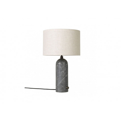 Gubi Gravity Table Lamp Small Grey Marble Base Canva...