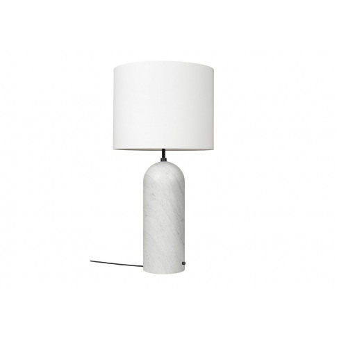 Gubi Fol19 Gravity Floor Lamp Xl Low White Marble Ba...
