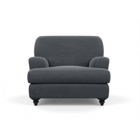 Heal's Hampstead Armchair Melton Wool New Navy Natur...