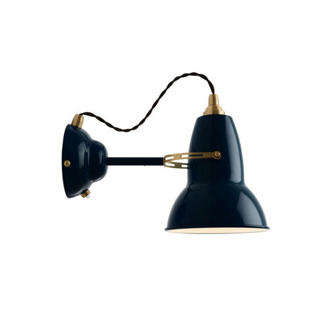 Anglepoise Original 1227 Wall Light Brass Ink Blue