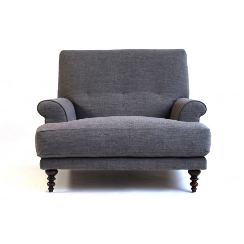 Scp Oscar Informal Armchair Velvet Midnight Walnut Feet