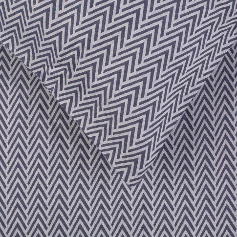 Heal's Herringbone Navy Single Duvet Cover