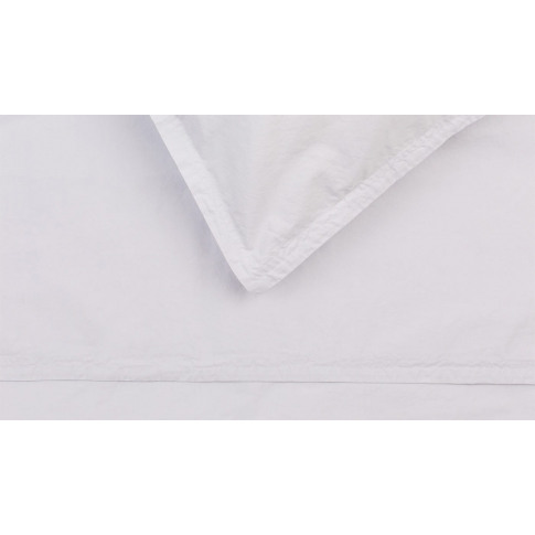 Heal's Washed Cotton Soft Grey Double Fitted Sheet