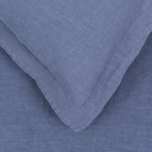 Heal's Washed Linen Superking Duvet Cover Blue