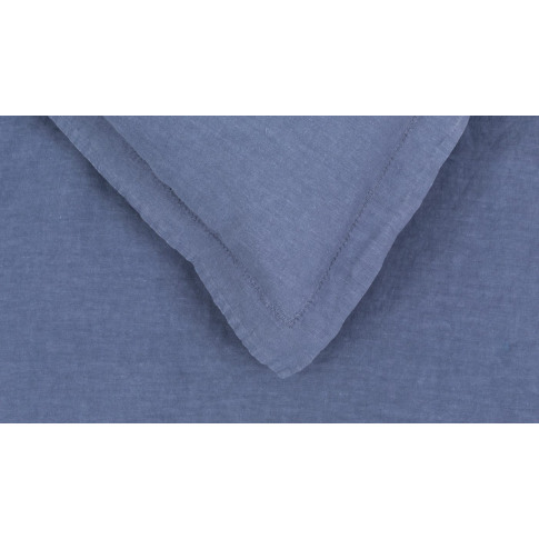 Heal's Washed Linen Blue Superking Fitted Sheet
