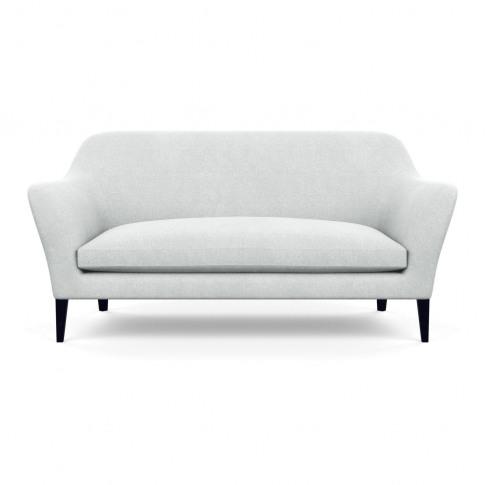 Heal's Wallis 3 Seater Sofa Broad Weave Tin Black Feet