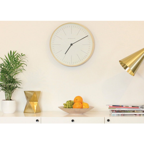 Newgate Mr Clarke Wall Clock Pale Line Large