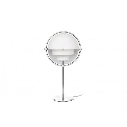 Gubi Multi Lite Table Lamp Chrome White Shade