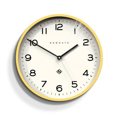 Newgate Echo Wall Clock Number Three Yellow