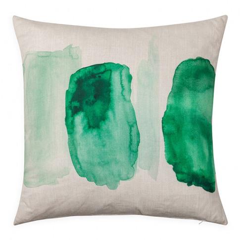 Heal's Painterly Cushion Green 45cm X 45cm