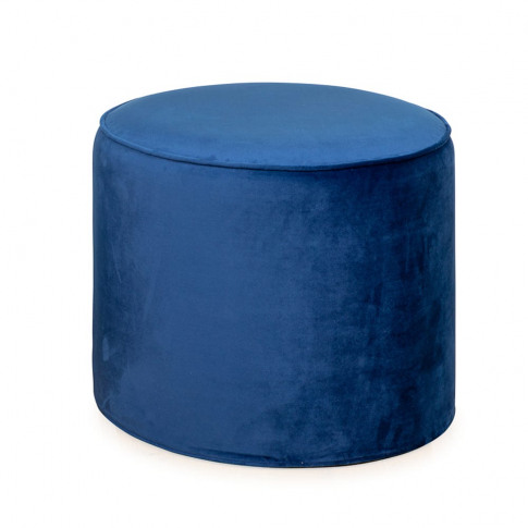 Heal's Cayo Pouffe Smart Velvet Blue