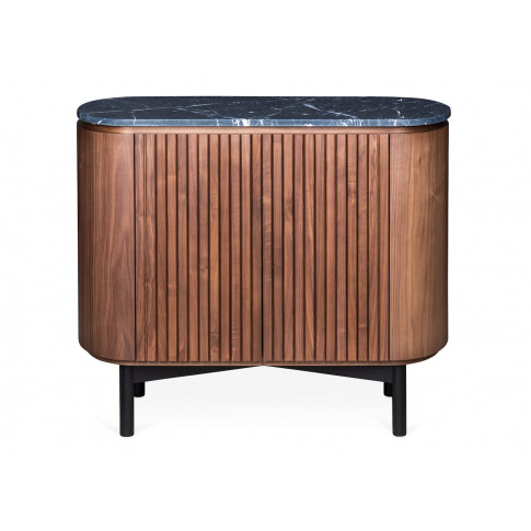 Heal's Remi Sideboard Small Walnut And Black Marble