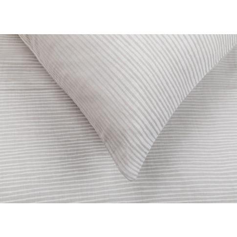 Heal's Reversible Stripe Duvet Cover Grey Double