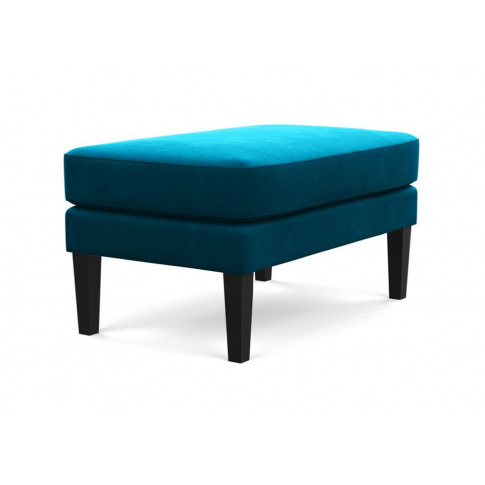 Heal's Richmond Ottoman Smart Velvet Blue Natural Feet