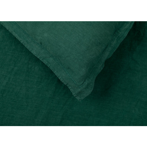 Heal's Washed Linen Forest Green Fitted Sheet Super ...
