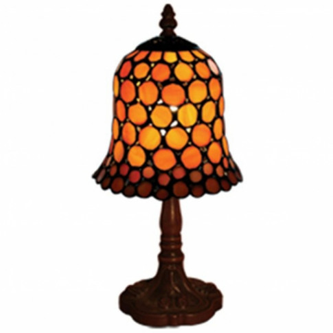 Amber Spotted Tiffany Table Lamp