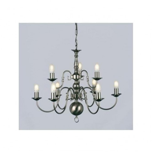 Antique French Style Flemish Silver Chandelier 2